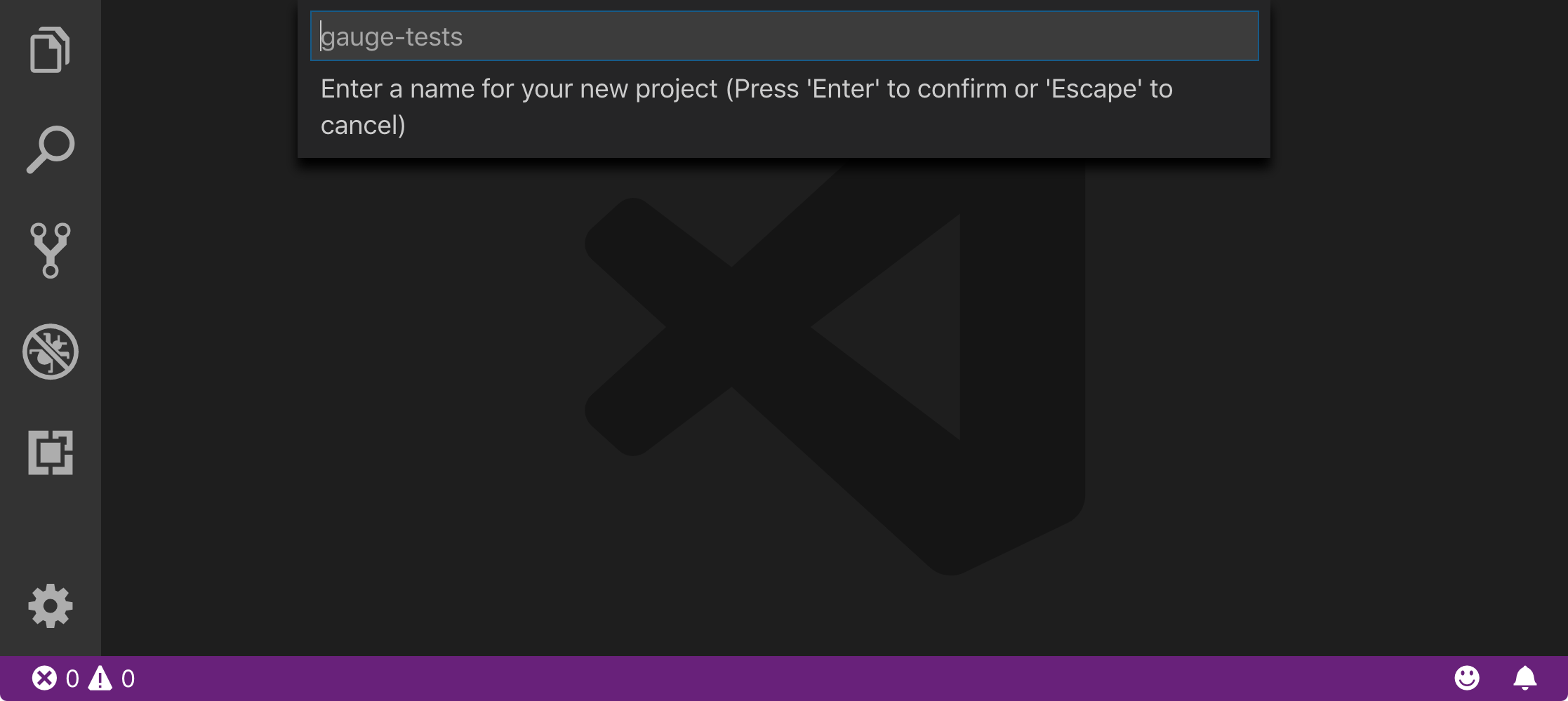 VSCode_enter_project_name