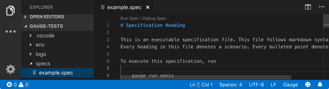 Open example.spec file